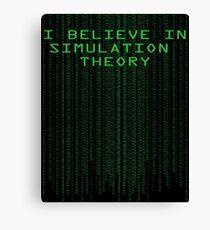 Simulation Theory Canvas Print