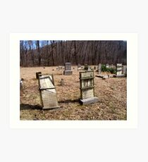 pricketts fort , civil war  graveyard Art Print