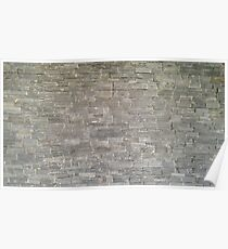 Outdoor natural Stone wall tile texture photo Poster