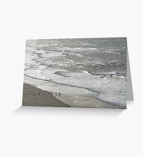 Silver Coast Beach Fun Greeting Card