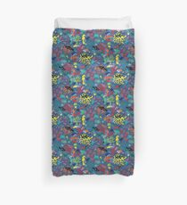 Ocean Colour Scene - fun nautical pattern by Cecca Designs Duvet Cover