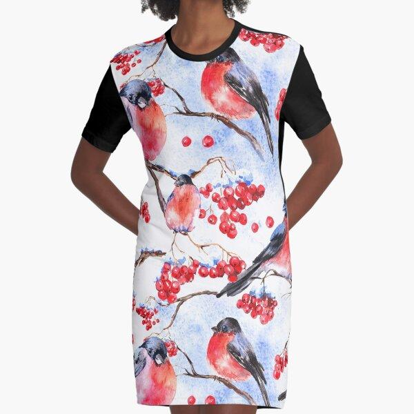 Birds Graphic T-Shirt Dress