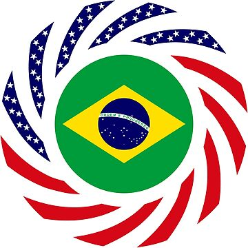 Brazilian American Multinational Patriot Flag Series by carbonfibreme