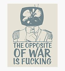Prince Robot Fucking War Photographic Print