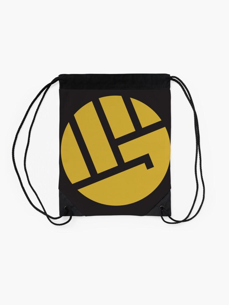 Alternate view of heropunch Drawstring Bag