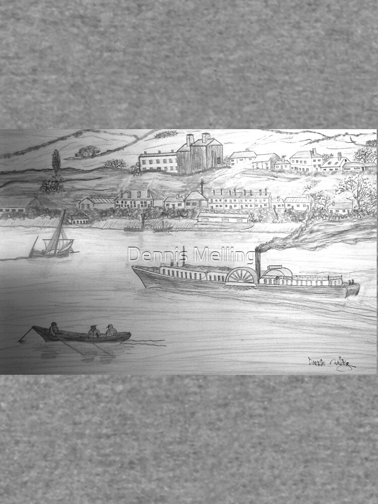 My Pencil Drawing of a Paddle Steamer on the Danube by ZipaC