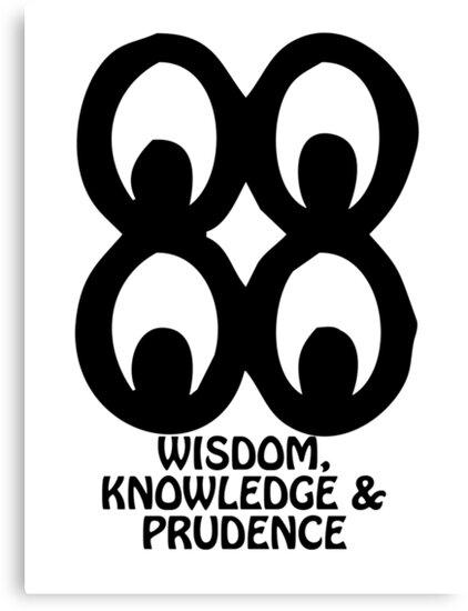 T Shirt Adinkra Symbol Wisdom Knowledge Canvas Prints By Keith