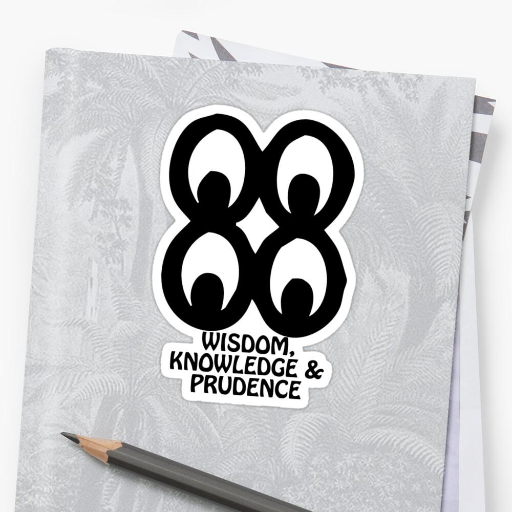 T Shirt Adinkra Symbol Wisdom Knowledge Stickers By Keith