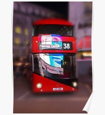 Big Red Bus Poster
