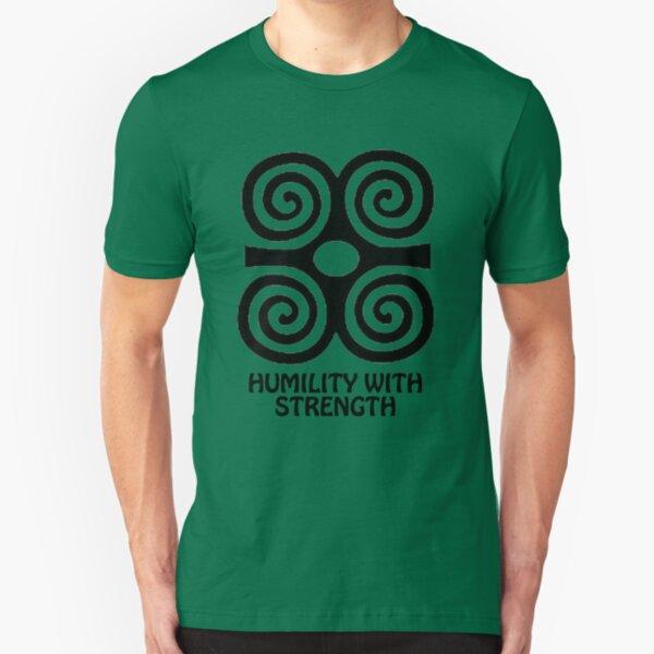 T-Shirt Adinkra Symbol: Humility with Strength Slim Fit T-Shirt