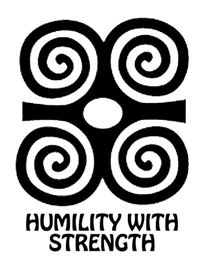 T Shirt Adinkra Symbol Humility With Strength Photographic Prints