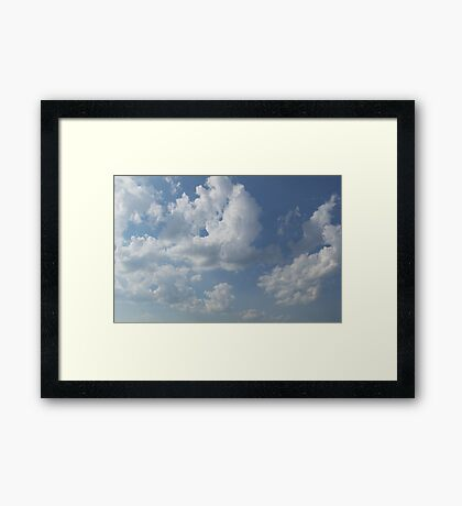 HDR Composite - Sky and Clouds Framed Print