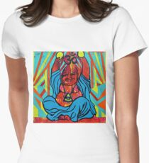 Happy Buddha  Womens Fitted T-Shirt