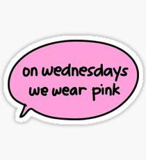On wednesdays we wear pink - Mean Girls Sticker