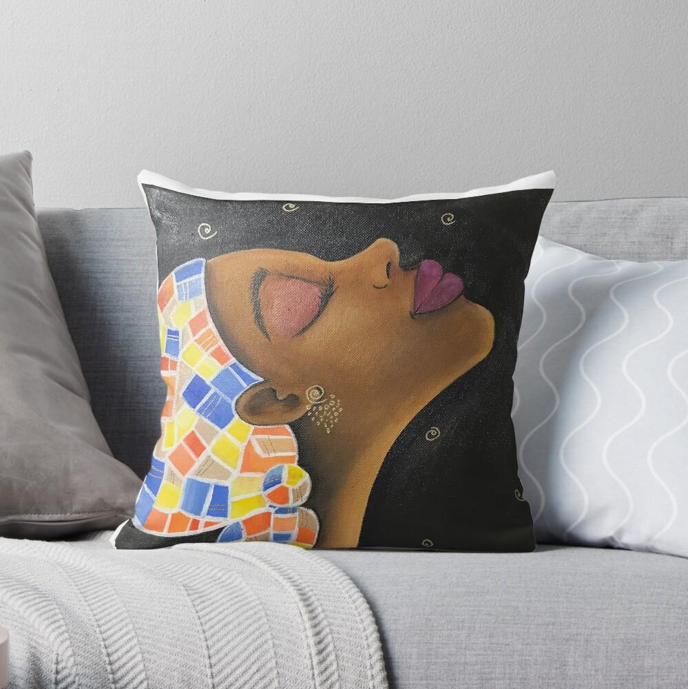 Midnight Breeze Throw Pillow