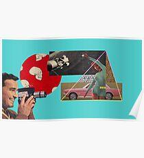 Macchine Rosa e Pantaloni Leopardati Poster