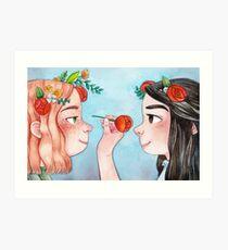 Anne of Green Gables: Anne & Diana Art Print