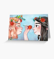 Anne of Green Gables: Anne & Diana Greeting Card