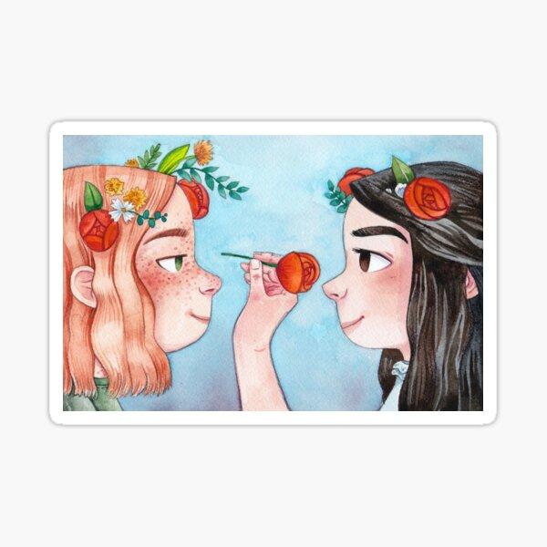 Anne von Green Gables: Anne & Diana Sticker