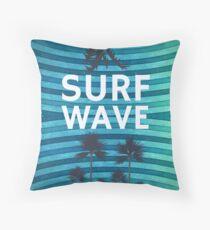 Surf Wave Throw Pillow