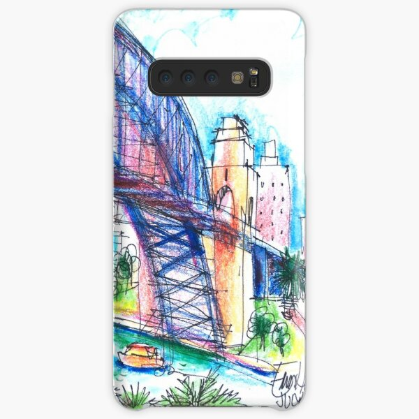 Sydney Harbour Bridge and boats Samsung Galaxy Snap Case