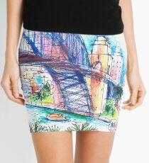 Sydney Harbour Bridge and boats Mini Skirt