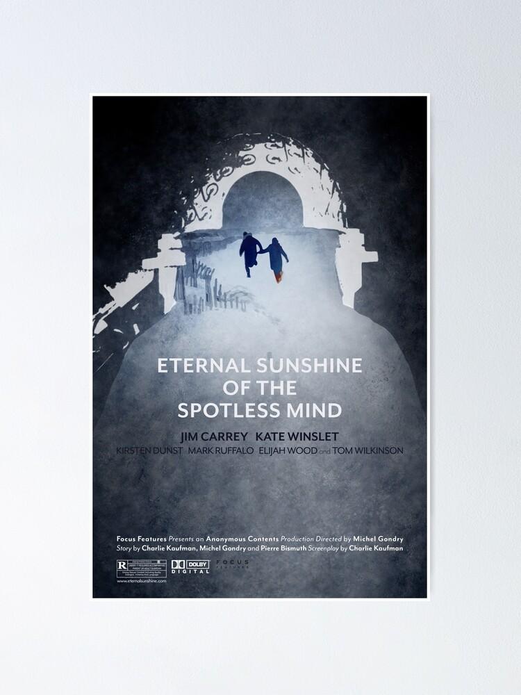 Poster Affiche Du Film Eternal Sunshine Of The Spotless Mind Par Rollingpeach Redbubble