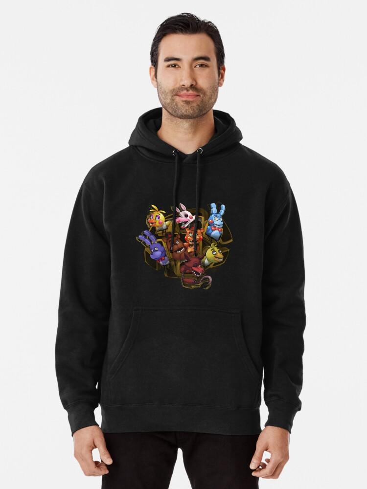 Five Nights at Freddys Characters Mens Hooded Sweatshirt