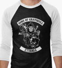 SONS OF GRAYSKULL!! (BLACK) Men's Baseball ¾ T-Shirt