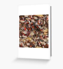 Chaos on Repeat Greeting Card
