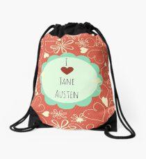Mochila de cuerdas Amo el diseño anaranjado de Jane Austen