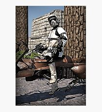 Stormtrooper in the forest Photographic Print