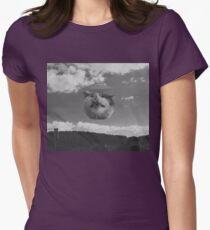 Alien Cat ufo Womens Fitted T-Shirt