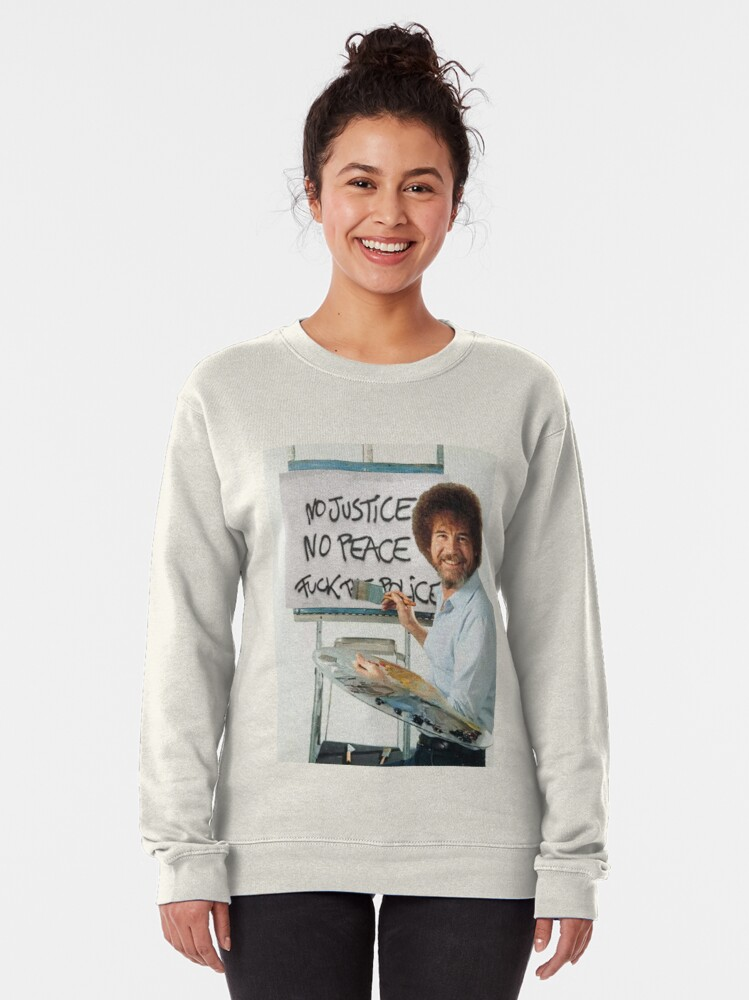 Alternate view of No Justice No Peace Pullover Sweatshirt