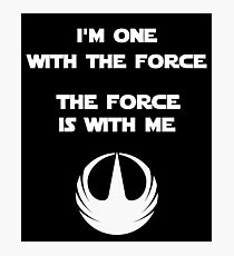 Star Wars Rogue One - I'm One with the Force Photographic Print