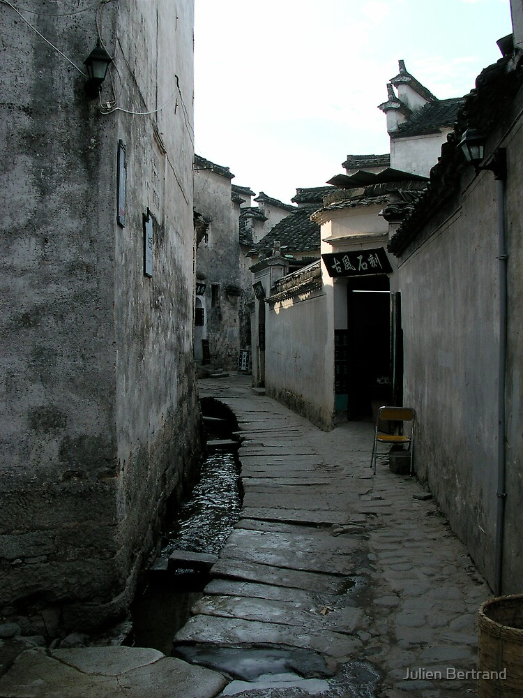 Hongcun village street by Julien Bertrand