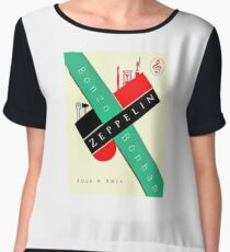 Rockin' Bauhaus Bonzo Zeppelin Design  Chiffon Top