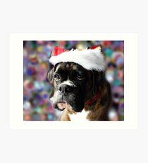 Die Farbe von Weihnachten - Boxer Dogs Series Kunstdruck
