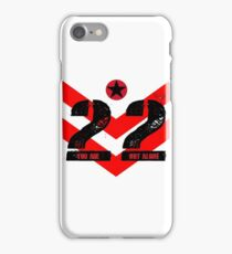 22 You Are Not Alone :: Raising support, awareness and funds for nonprofit organizations offering holistic healing processes to veterans. iPhone Case/Skin
