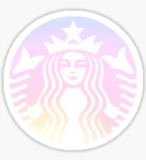 Ombre Sunset Starbucks Sticker