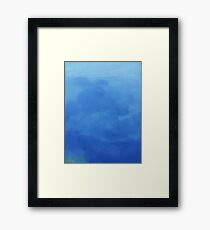 RAIN CLOUDS Framed Print