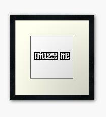 Cool Illusion Funny Cute Love Amaze Me Framed Print