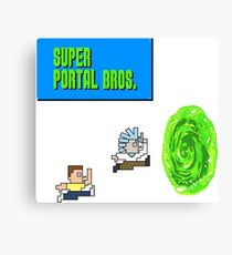 Rick And Morty Super Portal Bros Canvas Print