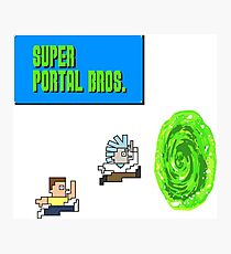Rick And Morty Super Portal Bros Photographic Print
