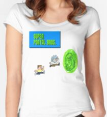 Super Portal Bros Women's Fitted Scoop T-Shirt