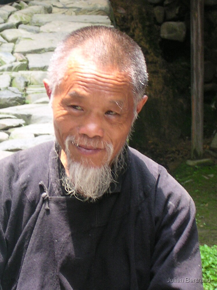 Old Chinese man by Julien Bertrand