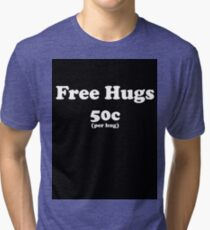 free hugs black Tri-blend T-Shirt