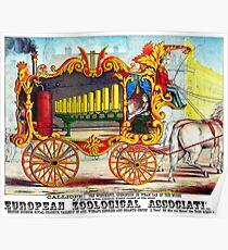 CALLIOPE OPERONICON: Weinlese-Zirkus-Werbungs-Druck 1874 Poster