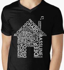 House-Musikgenres T-Shirt mit V-Ausschnitt