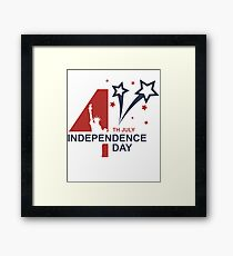 4th of July independence Day Framed Print